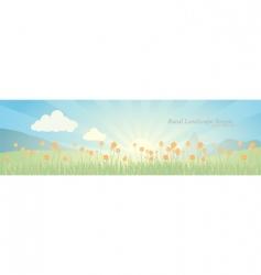 Landscape scene vector