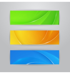 Abstract horizontal banners vector