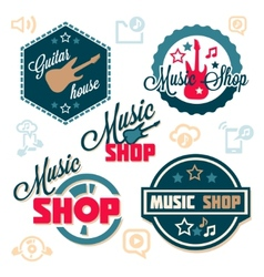 Music logo set vector