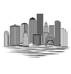 Modern city skyline vector