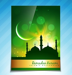 Ramadan brochure background vector
