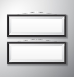Picture frames black horizontal vector