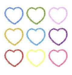 Heart sketch design for valentine vector