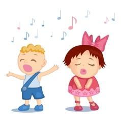 Singing babies vector
