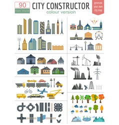City map generator elements for creating your vector
