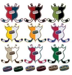 Set of hockey sport crests vector