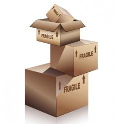 Shipping boxes vector