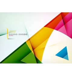 Arrow geometric shape abstract business background vector