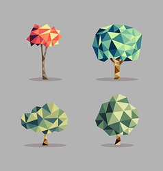Triangle abstract tree set vector