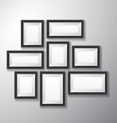 Picture frames black variety vector