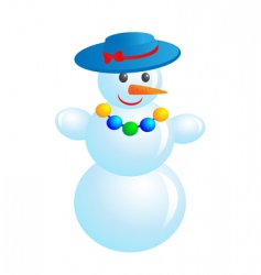 Fashion snowman vector