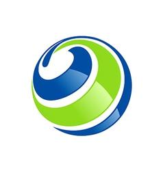 Globe ecology abstract circle logo vector