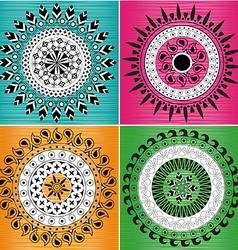 Indian ornament mandala vector