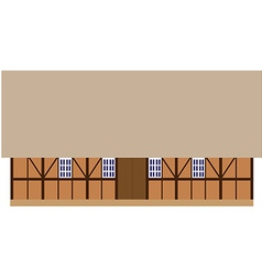 Old wooden barn vector
