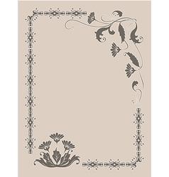 Frame flower ornament vector