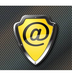 Email protection shield vector