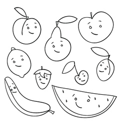 Fruit faces vector