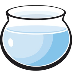 Fish tank with water vector