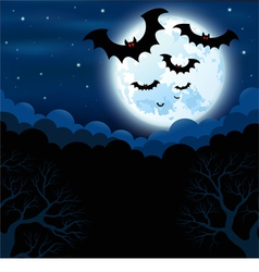 Full moon in the halloween vector
