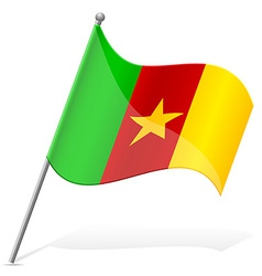 Flag of cameroon vector