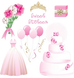 Sweet sixteen vector