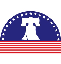 Liberty bell flag vector