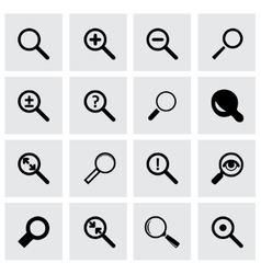 Magnifying icon set vector
