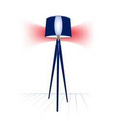 Electric modern floor lamp vector