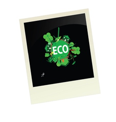 Eco picture vector