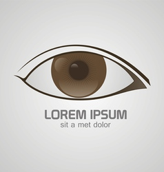 Eye brown logo vector