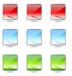 Badge button contact information logo marketing co vector