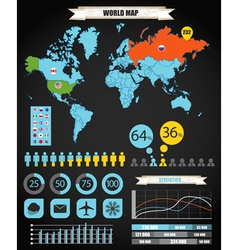 World map infographic vector