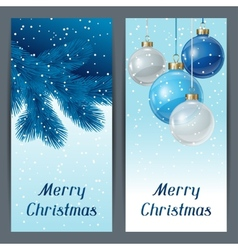 Holiday vertical banners template with christmas vector