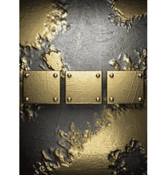 Gold on concrete background vector