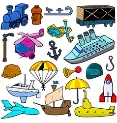 Cartoonish objects vol 2 vector
