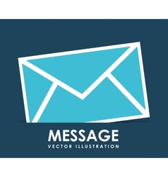 Message icon design vector