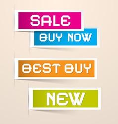 Colorful paper business sale labels vector