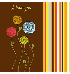 I love you - valentine card vector