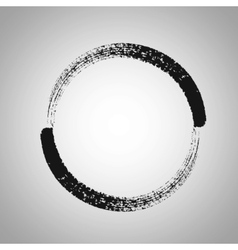 Round brush frame vector
