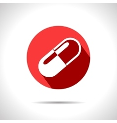 Capsule pill icon eps10 vector