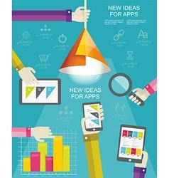 Flat design modern icons set for mobile apps vector