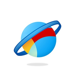 Globe orbit planet logo vector