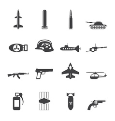 Simple weapon and war icons vector