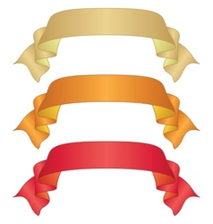Banners ribbons set vector