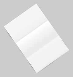 Empty paper sheet with shadows isolated on gray vector