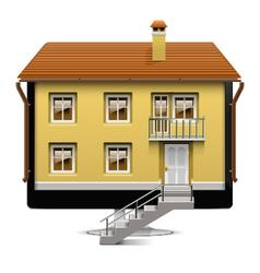 Computer house concept vector