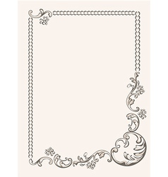 Frame ornament vintage vector