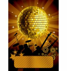 Gold disco ball vector