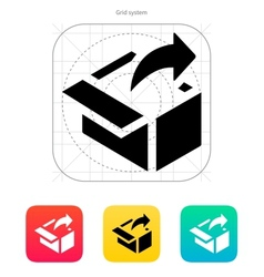 Share from box icon vector