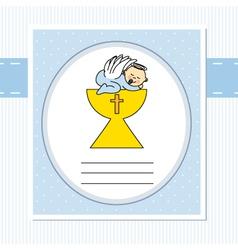 Christening card vector